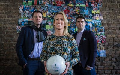 Bernard Brogan, Mary O'Connor and Michael Murphy launch the Irish Sport Industry Awards 2018 in association with JLT Ireland