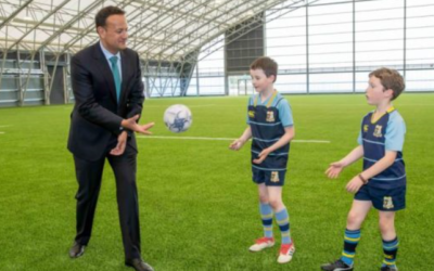 An Taoiseach Leo Varadkar on campus to open Phase Two of the Sport Ireland Indoor Arena