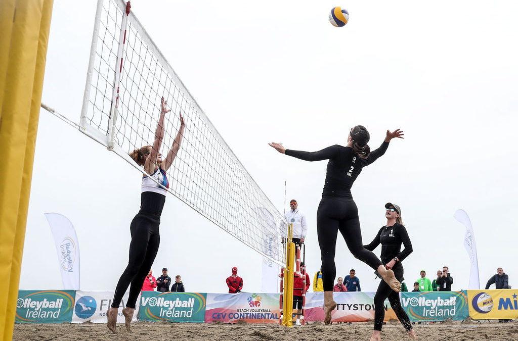 Three Irish teams in Top 8 of Small Countries Senior Beach Volleyball Championships