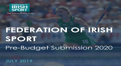 Federation of Irish Sport – Budget 2020 Asks