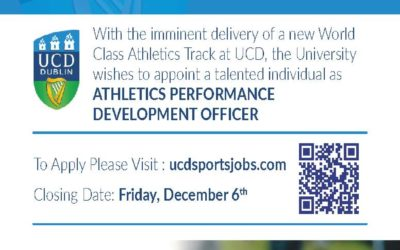 VACANCY – Athletics Performance Development Officer within UCD