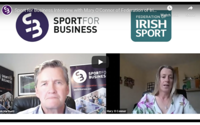 Sport for Business: Resilience fund Interview with Mary O'Connor, CEO Federation of Irish Sport