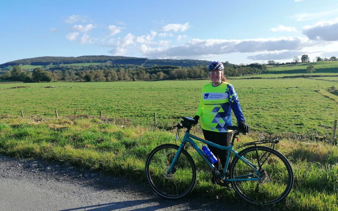 First female hits 100 AXA Community Bike Rides!