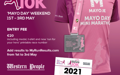 Mayo Day 2021 Womens Virtual 10K – Complete your 10K from the 1st – 3rd May 2021